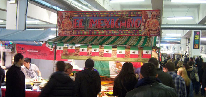 comida mexicana en Boiler House Food Hall