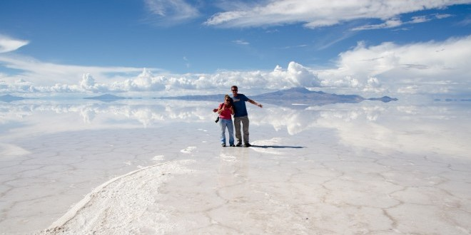 On the Salar de Uyuni