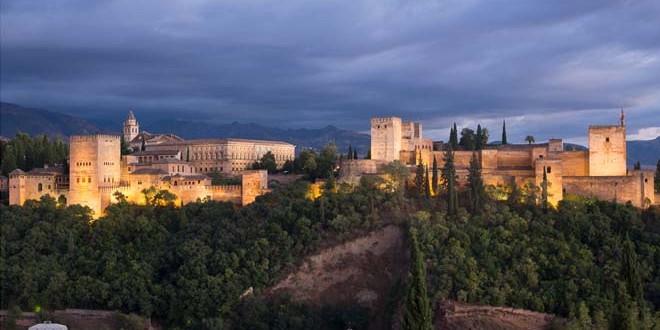 alhambra atardecer