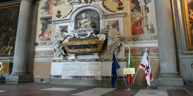 La basílica de Santa Cruz en Florencia
