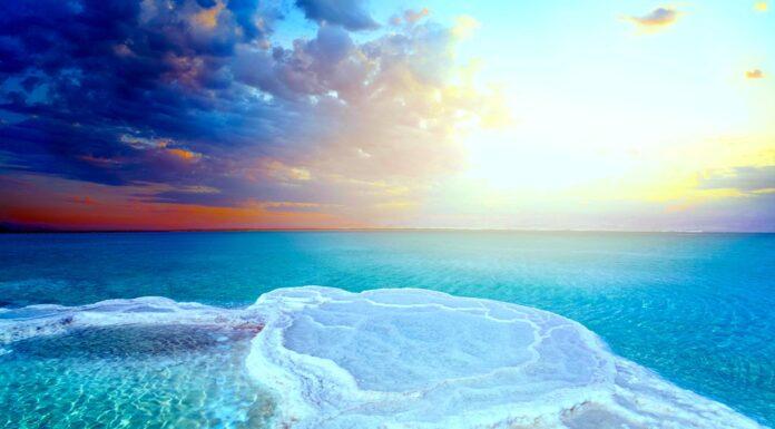 El Mar Muerto, sobre las aguas