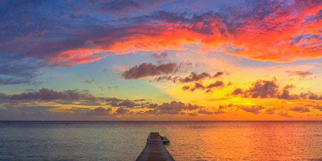 Puesta de sol en Curaçao