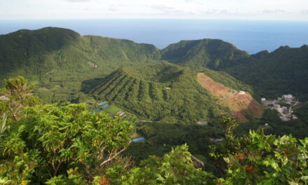 Aogashima, el volcan verde de Japón