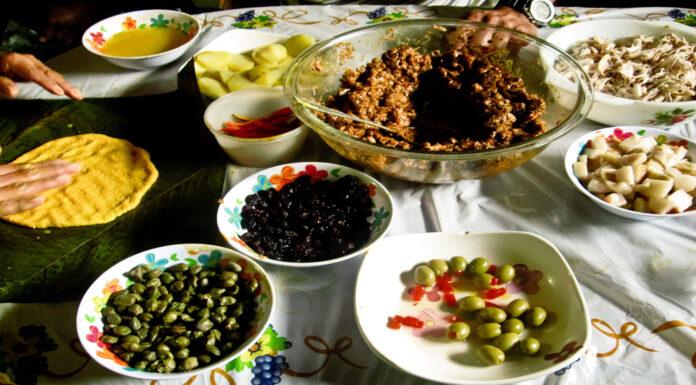 Menú de platos típicos de Venezuela