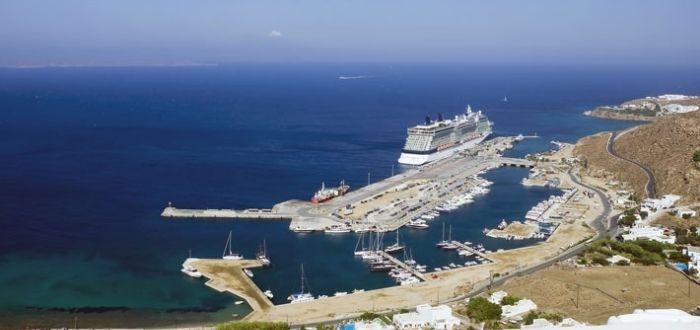 Antiguo y nuevo puerto de Mykonos