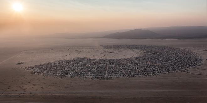 Ciudad de Black Rock City, en el desierto de Black Rock