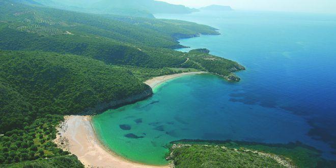 Costa Navarino verde y azul