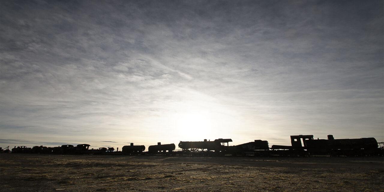 Cementerio de trenes, un lugar olvidado