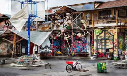 El pintoresco barrio de Metelkova en Liubliana
