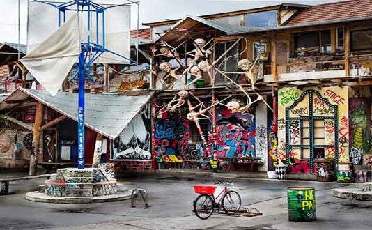 El pintoresco barrio de Metelkova en Ljubliana