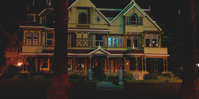 Winchester House by night