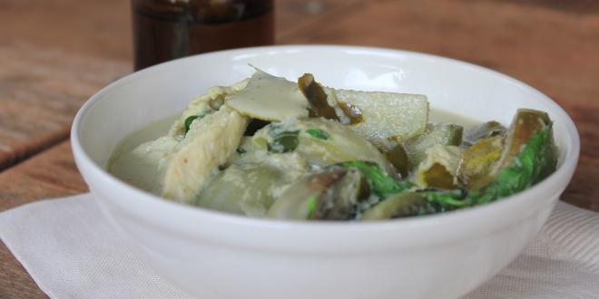Plato thai al curry verde