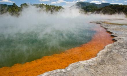 La piscina de Champagne en Nueva Zelanda