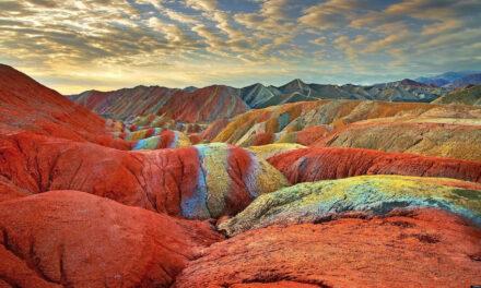 Las montañas de color del Zhangye Danxia en China