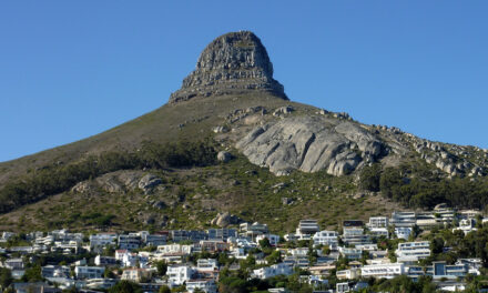 Montaña de la Cabeza de León en Sudáfrica