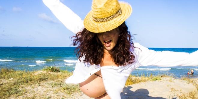 Embarazada Playa