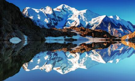 El titánico Mont Blanc en los alpes franceses