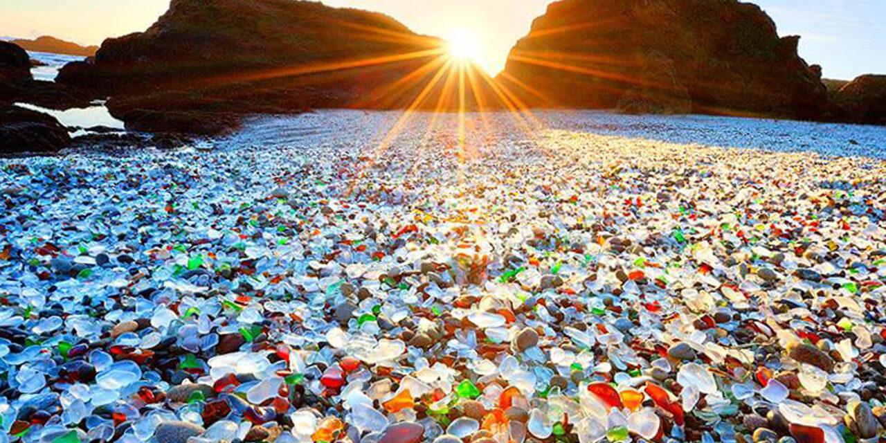 Fort Bragg, playas de cristal