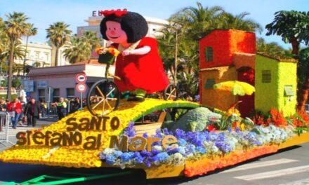 El efímero Carnaval de las Flores de Sanremo
