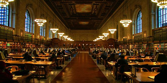 Interior de la biblioteca pública de Nueva York