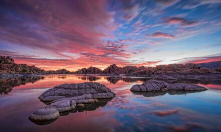 El fotogénico y mágico Lago Watson en Arizona