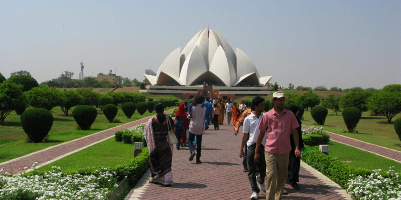 El Templo del loto en India