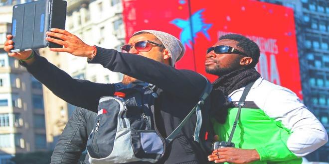 Turistas selfies