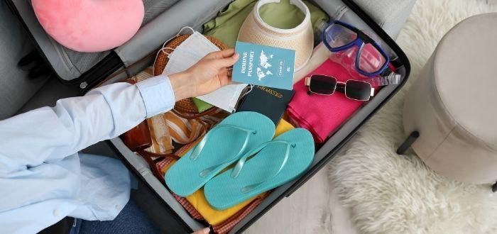 Viaje con valija organizada
