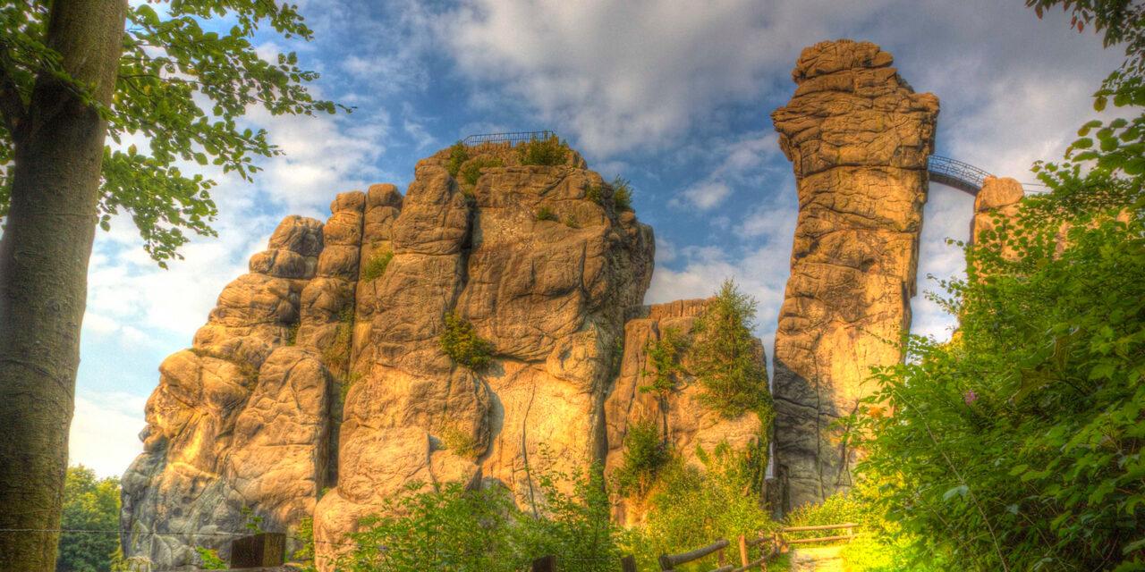 El Bosque Teutónico y sus peculiares formaciones rocosas