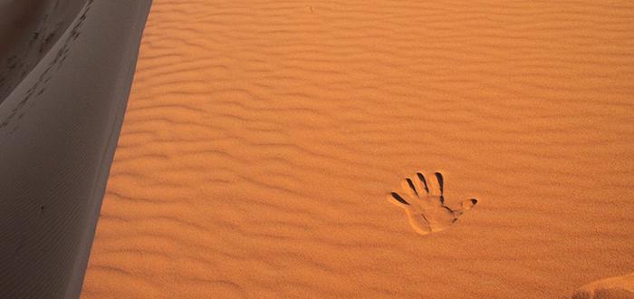 Huella en el desierto