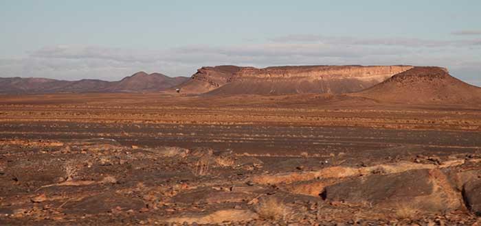 Llanuras desierto Marruecos