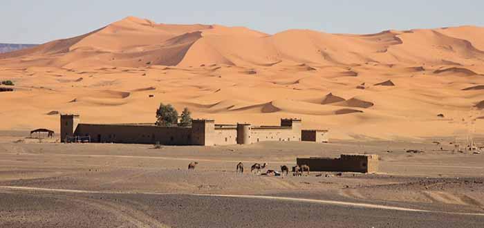 kasbah en el desierto