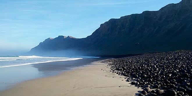 Playa de Famara en Lanzarote