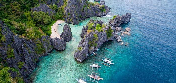 Isla de Palawan, Isla Matinloc, Playa escondida