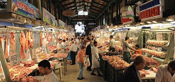 Que ver en Atenas, Mercado Central de Atenas