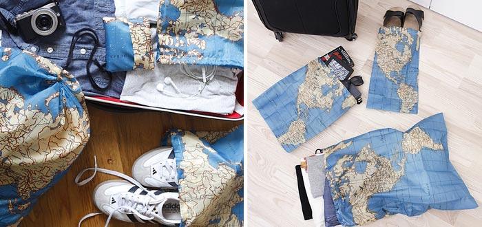 regalos para viajeros, bolsas de viaje mapamundi