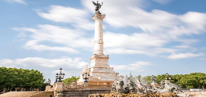 Monumento de Girondins en Burdeos
