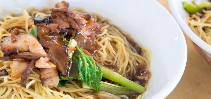 wanton mee, comida típica de China