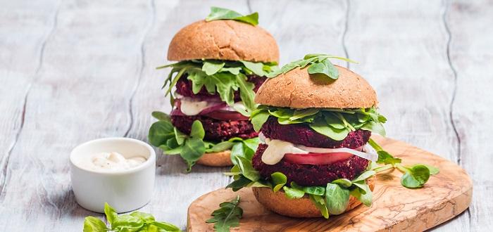 Comida típica de Australia: hamburguesa con remolachas