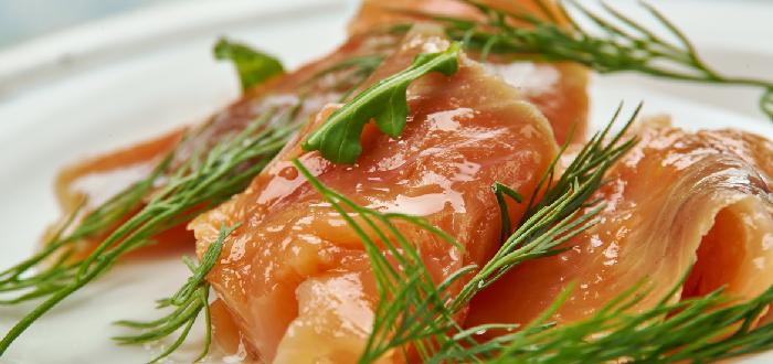 Comida Típica de Dinamarca  Gravad laks