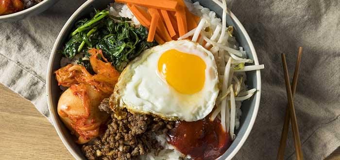 Comida típica de Corea del Sur   Bibimbap