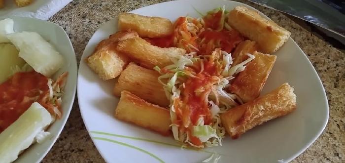 Comida típica de El Salvador | Yuca Frita