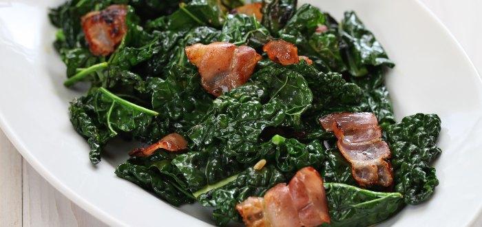Comida típica de Irlanda, bacon and cabbage
