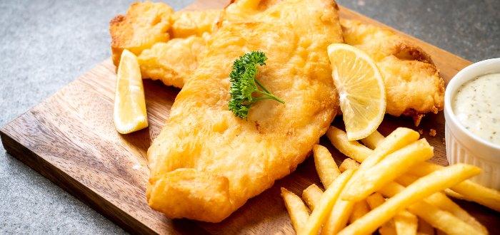 Comida típica de Irlanda, fish and chips