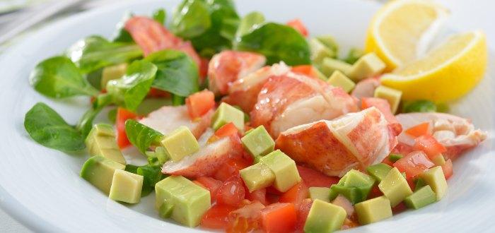 Comida típica de Irlanda: Lobster salad