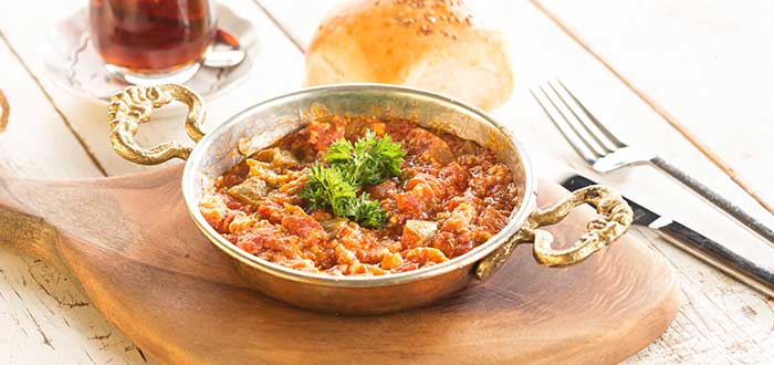 Comida típica de Turquía. Menemen