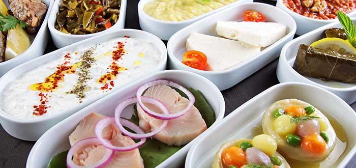 Comida típica de Turquía. Meze