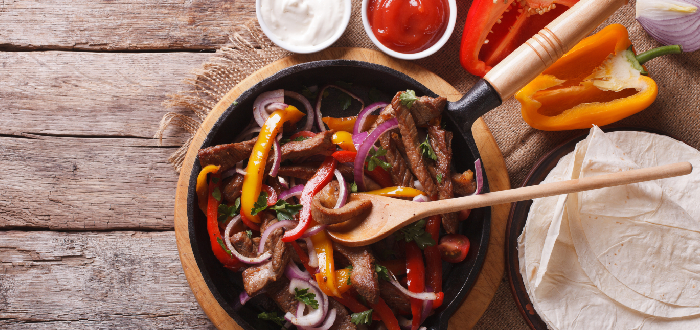 Comida típica mexicana | Fajitas