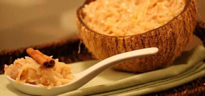 Comida típica de Angola. Cocada angoleña