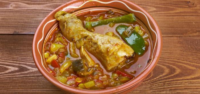 Comida típica de Angola. Muamba